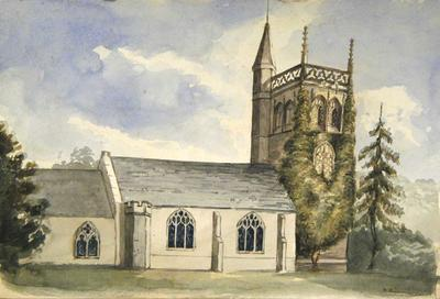 Painting: Hutton Church, September 1837