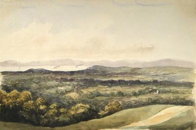 Painting: View above Brockley Combe, Sep 1837