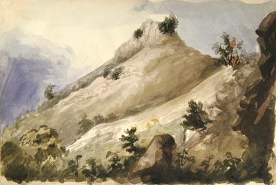 Painting: View in Cleve Combe, Sept 1837