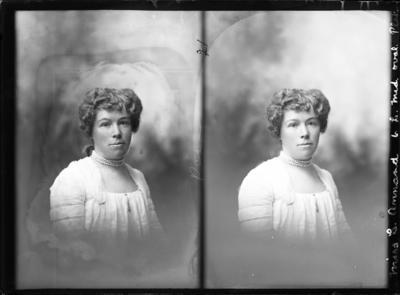 Glass Plate Negative: Miss C Annand - Twin negative; Circa 1905; 1980.175.516