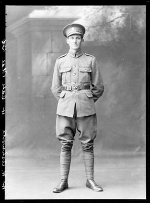 Glass Plate Negative: Mr W Ashworth - In uniform