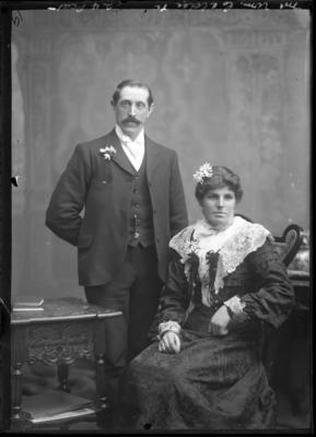 Glass Plate Negative: Mr and Mrs William Calder
