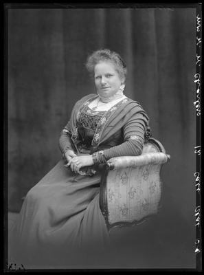 Glass Plate Negative: Mrs W W Charters