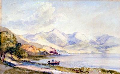 Painting: Akaroa Harbour; 1884; 1982.128.1