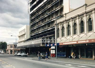 Photographic Negative: Oxford Hotel and Ramada Inn, Columbo Street, 1985