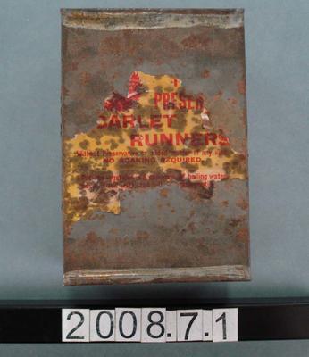 Tin: Preserved Scarlet Runner Beans