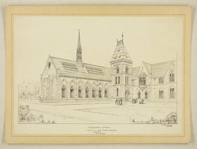Mountfort Architectural Plan: Sketch of Canterbury Museum