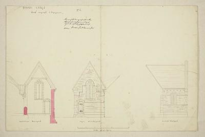 Mountfort Architectural Plan: St John's Anglican Church, Latimer Square