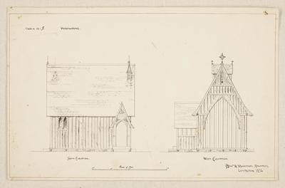 Mountfort Architectural Plan: Hemingford Church, Governor's Bay, 1852