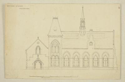 Mountfort Architectural Plan: Additions to Canterbury Museum, c 1871