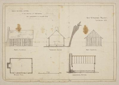 Mountfort Architectural Plan: Hemingford Cottage, Governor's Bay, 1852