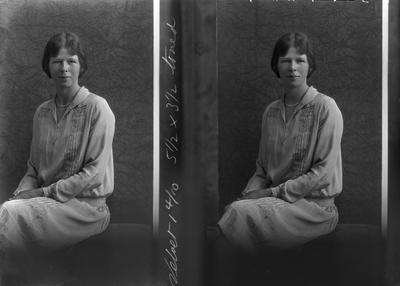 Film Negative: Mrs J E Holland (twin negative)