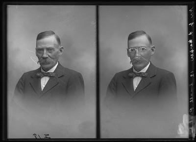 Glass Plate Negative: Mr J F Harper