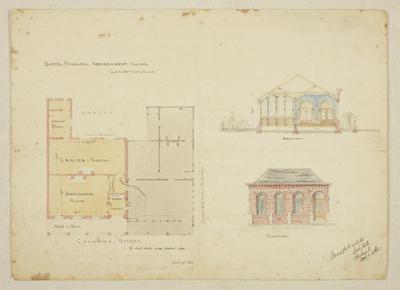 Mountfort Architectural Plan: Canterbury Provincial Council Buildings, 1862