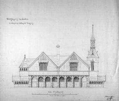 Mountfort Architectural Plan: Christchurch East District School, 1873