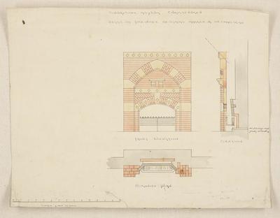 Mountfort & Luck Architectural Plan: Sunnyside Asylum, fireplaces