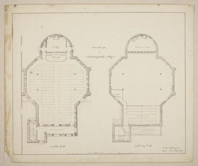 Mountfort Architectural Plan: Trinity Congregational Church, 1872