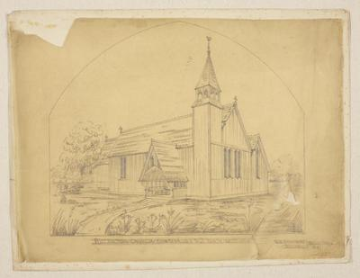 Mountfort & Luck Architectural Plan: Riccarton Church