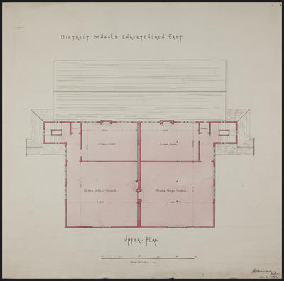 Mountfort Architectural Plan: Christchurch East District School