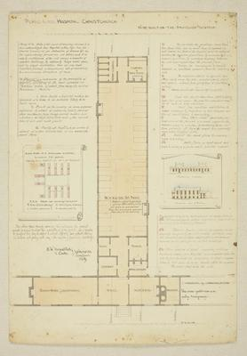 Mountfort Architectural Plan: Hospital, Christchurch