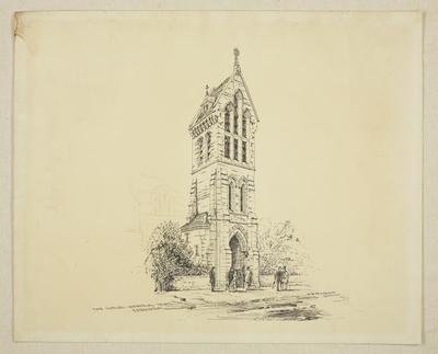Mountfort Architectural Plan: Dudley Memorial Tower, Rangiora, 1893