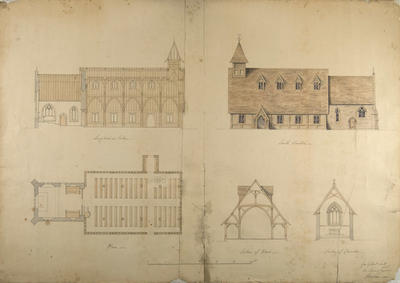 Mountfort Architectural Plan: Canterbury Settlement Church