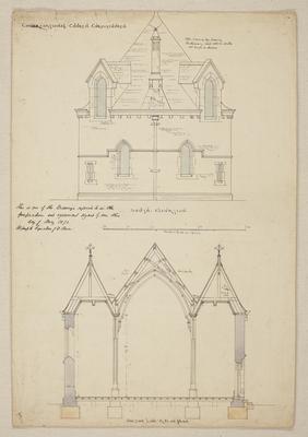 Mountfort Architectural Plan: Trinity Congregational Church, 1872