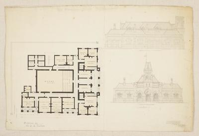 Mountfort Architectural Plan: Supreme Court Buildings, Christchurch, 1864