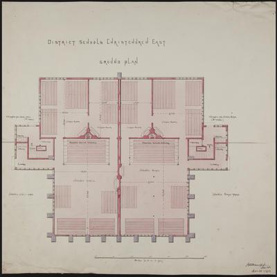 Mountfort Architectural Plan: Christchurch East District School