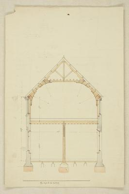 Mountfort Architectural Plan: Canterbury Museum, 1878