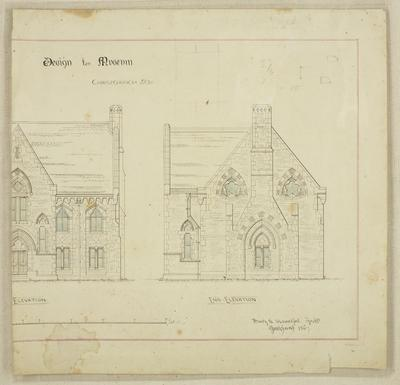 Mountfort Architectural Plan: Canterbury Museum, 1867