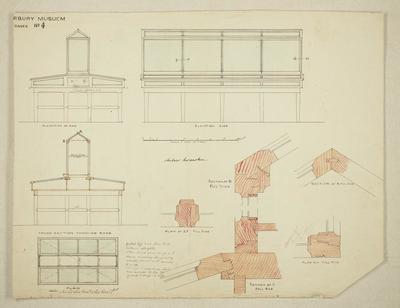Mountfort Architectural Plan: Canterbury Museum, 1887