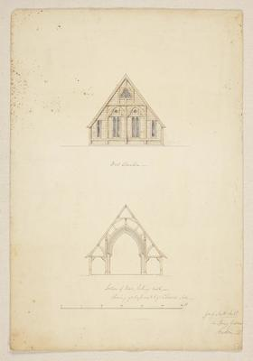 Mountfort Architectural Plan: Canterbury Settlement Church