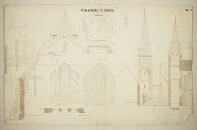 Mountfort Architectural Plan: Anglican Church of St John the Baptist, Latimer Square, Christchurch