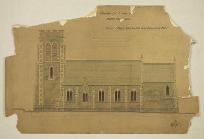 Mountfort Architectural Plan: Hororata Church, Canterbury