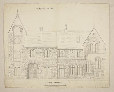 Mountfort Architectural Plan: Canterbury College