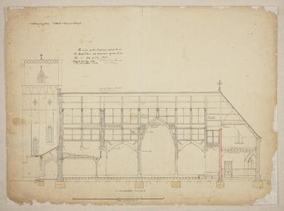 Mountfort Architectural Plan: Trinity Congregational Church