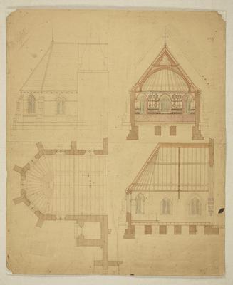 Mountfort Architectural Plan: St John's Anglican Church, Latimer Square