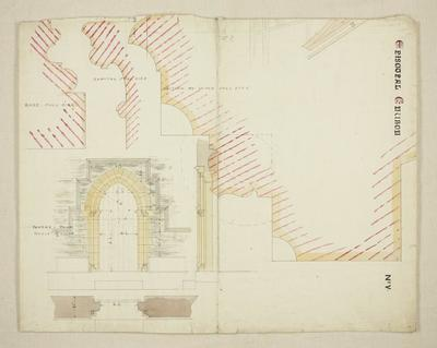 Mountfort Architectural Plan: Anglican Church of St John the Baptist, Latimer Square.