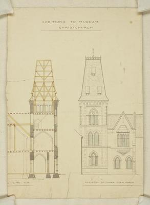 Mountfort Architectural Plan: Canterbury Museum, 1871