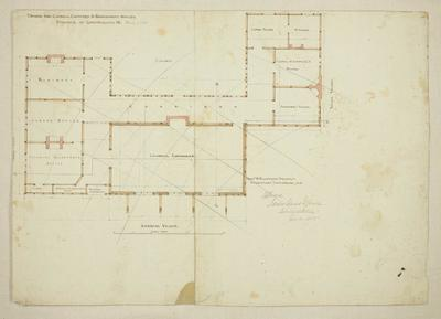 Mountfort Architectural Plan: Canterbury Provincial Council Buildings, 1855