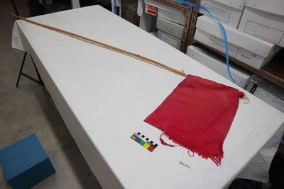 Trail marker flag
