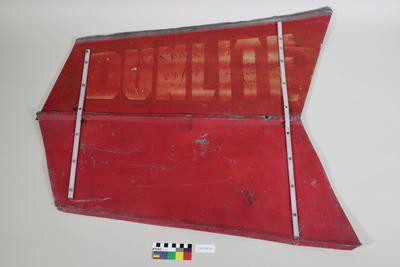 Metal vane from Dunlite wind power generator