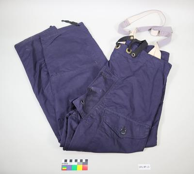 Pair of trousers with braces