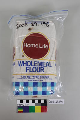Packet of wholemeal flour