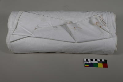 Bolt of white survey cloth