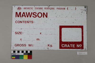 Sign from Mawson Station