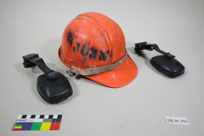 New Zealand Safety Limited hard hat with ear protectors