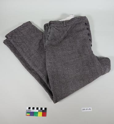 Saddle tweed trousers