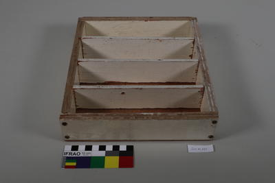 Box with partitions for holding darts and dart related objects